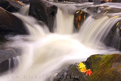 Waterfall along the Restoule River (Rolf Hicker Photography) Tags: world travel autumn fallleaves ontario canada fall nature leaves river waterfall leaf scenic waterfalls rivers travelphotography restoule easterncanada rolfhicker restouleriver hickerphotocom