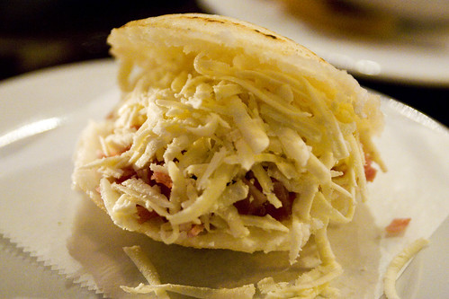 cheese arepa discovered arepas in half and crumbled queso blanco