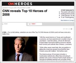 CNN's Top 10 Heroes of 2008 on the Quicken Loans blog
