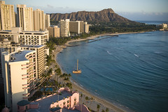 Waikiki from the Hanohano Room