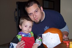 Daddy and Nathan and our pumpkin