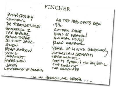 david fincher favorite films list