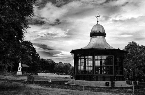 Bandstand in black and white