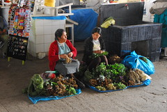 Women Selling Greens at the Market, Cusco