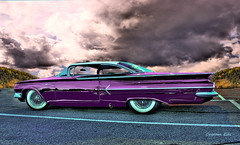 Purpleicious (custom eds) Tags: chevrolet chevy custom lowrider hdr 1960 2door photomatix