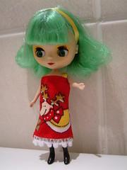 nessie's christmas dress