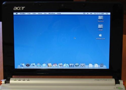 Acer Aspire One Mac Os por ti.
