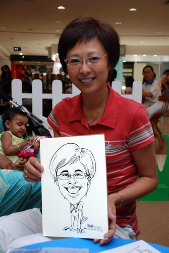 caricature live sketching for West Coast Plaza day 1 - 22
