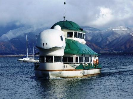 猪苗代湖の遊覧船~かめ号