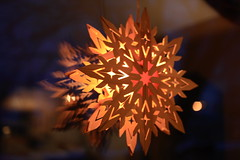 first of the winter decorations (UncommonGrace) Tags: snowflake christmas winter holiday lamp swedish solstice