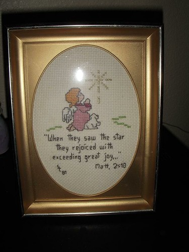 Cross-stich Plaque