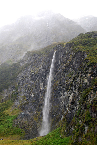 waterfall near rob roy glacier