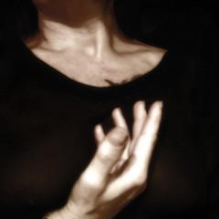 (giggie larue) Tags: selfportrait sepia neck square hand heart decolletage fingers chiaroscuro giggie
