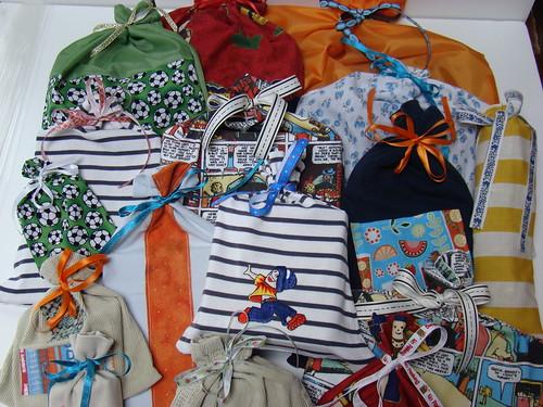 sacs cadeaux tissu