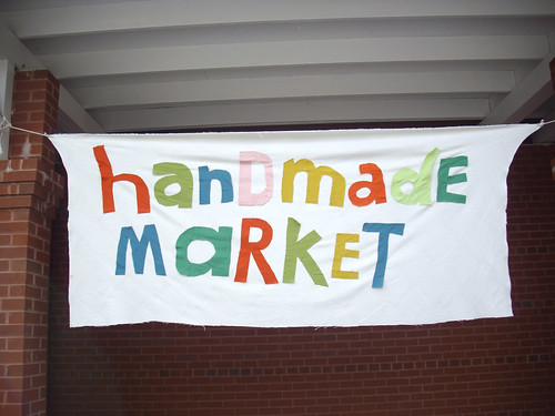 Handmade Market sign marked where the holiday sale was.
