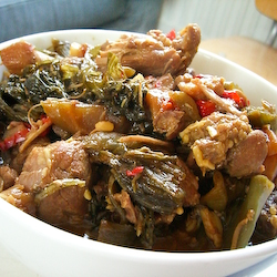 Sweet & Spicy Pork with Sour Mustard