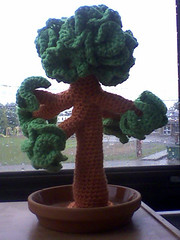 tree2 (callie callie jump jump) Tags: orange tree green nature crochet amigurumi freeform hyperboliccrochet