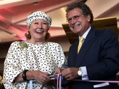 Nadine Rothschild y Laurent Dassault. (Los Andes)