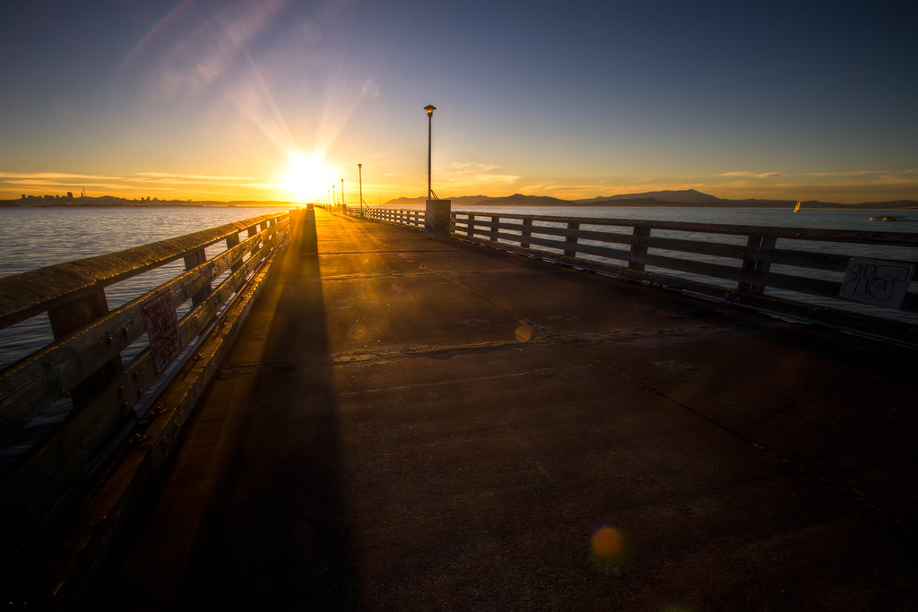A Pier Towards the Sun