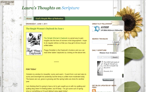 Laura's Thoughts Scripture