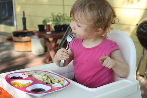 Cordelia, eating