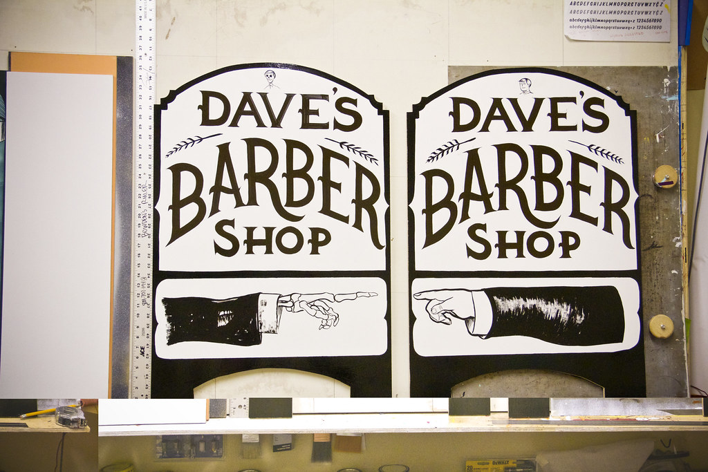 Daves Barber Shop A-Frame