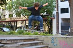 Skater in the square. (Daniel Pagano) Tags: plaza boy argentina stairs square jumping nikon skateboarding mendoza skate skateboard skater saltando escaleras joaqun plazasanmartn 2014 d5200 danielpagano