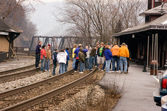 Teachers and Chaperones, WHAT ARE YOU THINKING (paulv2c) Tags: railroad train student track rail wv westvirginia harpersferry csx operationlifesaver
