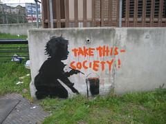 Banksy? - Holland Park Roundabout, London