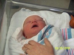 About Two Hours Old (Matt, Heather, & Keeley) Tags: daughter newborn keeley keeleyaddysonhall