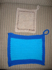 New Blue Potholder (before)