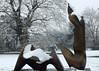 26 Two Piece Reclining Figure, Cut , 1979-81 (chericbaker) Tags: sculpture kewgardens snow kew moore henrymoore mooreatkew