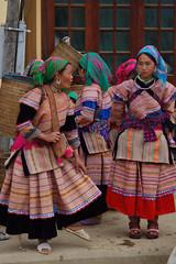 Sapa_Bac ha Market_Flower Hmong (JFlewellen) Tags: animals children market hills vietnam sapa hmong hilltribe blackhmong bacha flowerhmong redzao