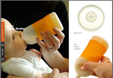 Whipsaw baby bottle
