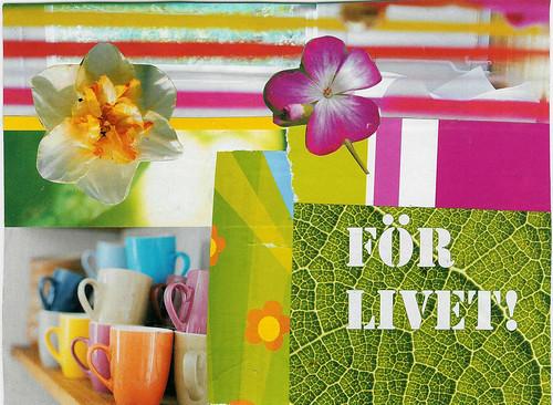Handmade postcard (Copyright Hanna Andersson)