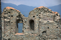Sacra S. Michele (olszuffka) Tags: old italy mountain brick window stone wall century ancient s sacra michele xii wochy monaster