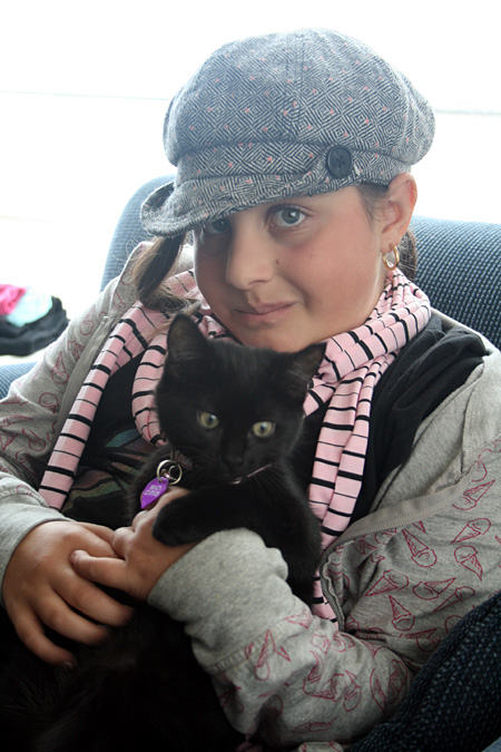 My beautiful niece Elena and her cat Liquorice