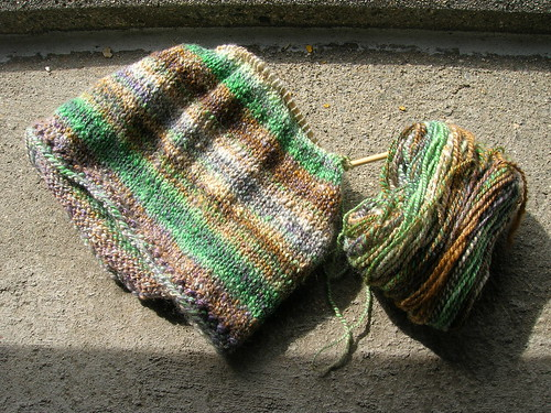handspun cowl (by aswim in knits)
