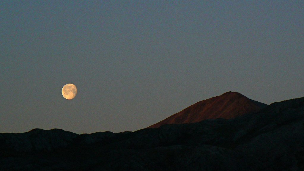 Moonrise over the Torridon Hills