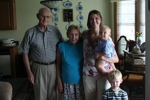 Papa, Nanny, Sherry, Jude & Noah