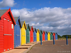 Primary colours (ExeDave) Tags: uk england sky beach clouds coast seaside explore coastal devon beachhuts primarycolours exe blueribbonwinner dawlishwarren interestingness500 exeestuary teignbridge mywinners colorphotoaward