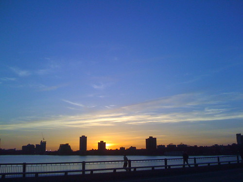 Sunset at Harvard Bridge