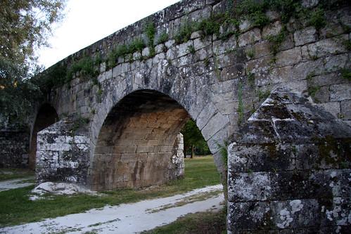 Ponte Ledesma, detalle augas arriba