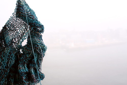 Melody's Shawl and Saint John, New Brunswick in the Fog