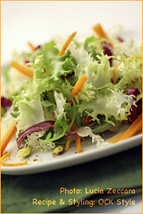Salads - Mesclun with Pistachios and Orange Zest