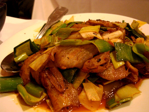 Double Cooked Pork Belly w/ Chili Leeks @ Szechuan Gourmet, Midtown
