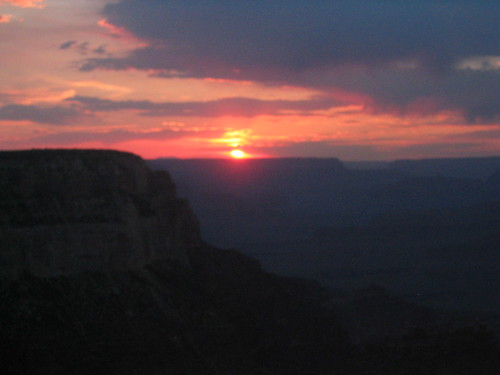 sunset at the Grand Canyon