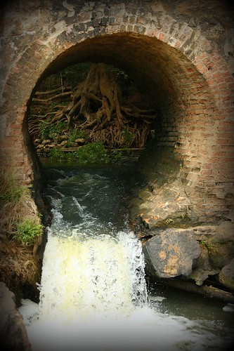 Flow-Through Tunnel in Pelham Mill Dam, Greer SC - IMG_5420