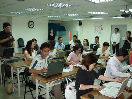 你拍攝的 20080811eComing-電子報實作研討010。