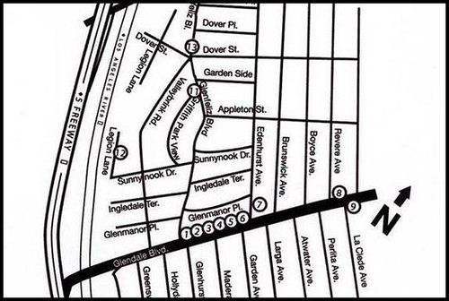 Atwater Village Artwalk Map